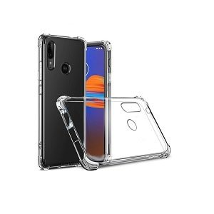 Motorola Moto E6 Plus Crystal Clear Transparent Shockproof Anti Knock Air Cushion Heavy Duty Case Cover