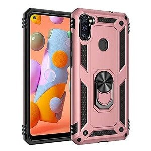 Samsung Galaxy A11 Heavy Duty Shockproof Rugged Case Cover (Rose Gold)
