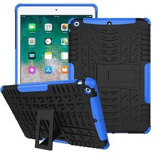 iPad 6th gen Shockproof Case Heavy Duty Rugged Protective Cover (Blue)