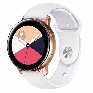 Samsung Galaxy Watch Active 2 Replacement Band Silicone Sport Wrist band (White)