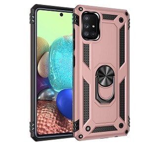 Samsung Galaxy A71 5G Heavy Duty Shockproof Rugged Case Cover (Rose Gold)
