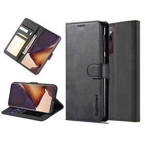 Samsung Galaxy Note 20 Ultra Wallet Flip Case Leather Card Slots Cover (Black)
