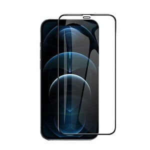 Apple iPhone 12 Pro Screen Protector Full Coverage Tempered Glass Film Guard (Black)