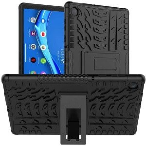 For Lenovo Tab M10 FHD Plus 10.3″ 2nd Gen Heavy Duty Tough Kickstand Strong Case Cover (Black)