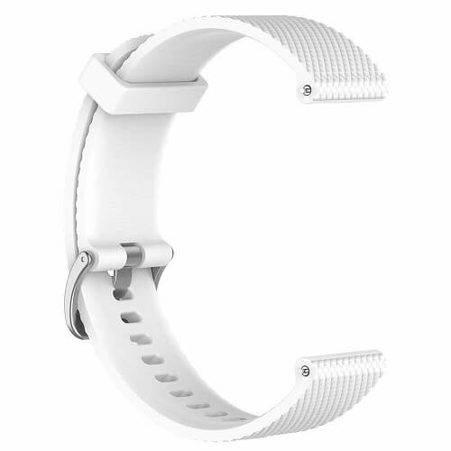 Replacement Silicone Wristband Sports Style Adjustable Wrist Bands For Garmin Forerunner 245 Music (White)..