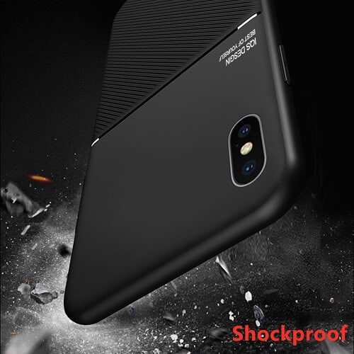 Apple iPhone XS Max Business Style Luxury Shockproof Case Heavy Duty Rugged Anti Knock Cover.//