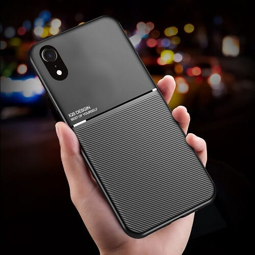 Apple iPhone XR Business Style Luxury Shockproof Case Heavy Duty Rugged Anti Knock Cover.