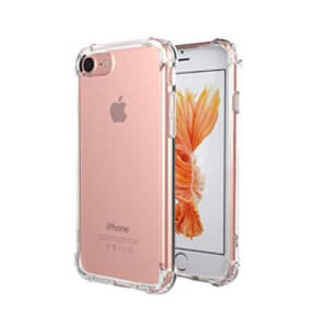Apple iPhone 7 8 Clear Case Shockproof Tough Gel Transparent Air Cushion Heavy Duty Cover (Transparent)