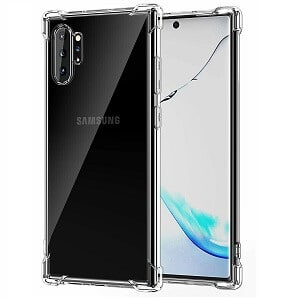 Samsung Galaxy Note10 Plus Clear Transparent Case Shockproof Heavy Duty Gel Clear Air Cushion Cover