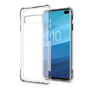Samsung Galaxy S10 Plus Clear Case Shockproof Tough Gel Transparent Air Cushion Heavy Duty Cover (Transparent)