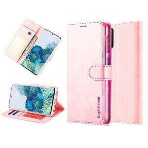 Samsung Galaxy S20 Wallet Case Flip Leather Card Slots Cover (Rose Gold)