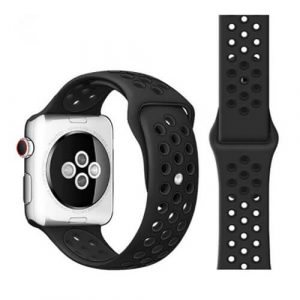 For Apple Watch iWatch Series 3 Band Silicone Replacement Strap 38mm & 42mm Wristband (Style 7)