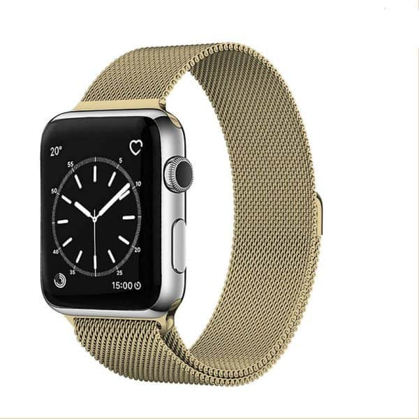 For Apple Watch iWatch Series SE 6 5 4 3 Band Stainless Steel Replacement Strap Wristband 38mm 40mm 42mm 44mm (Gold)//