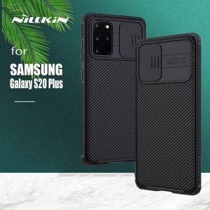 Samsung Galaxy S20 Plus Case, Nillkin CamShield Series Slim Stylish Protective Case With Slide Camera Cover - Black