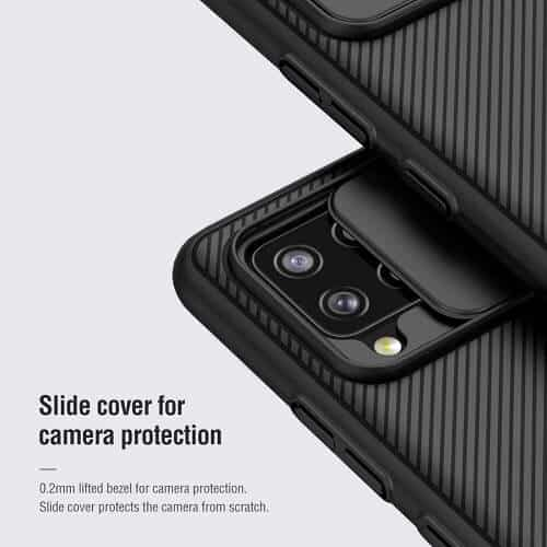 Nillkin Samsung Galaxy A42 5G Case, CamShield Series Slim Stylish Shockproof Protective Heavy Duty Case with Slide Camera Cover - Black
