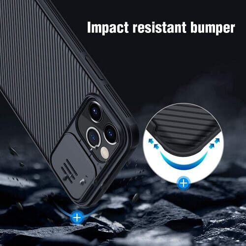Nillkin Apple iPhone 12 Pro Case, CamShield Series Slim Stylish Shockproof Protective Case With Slide Camera Cover - Black