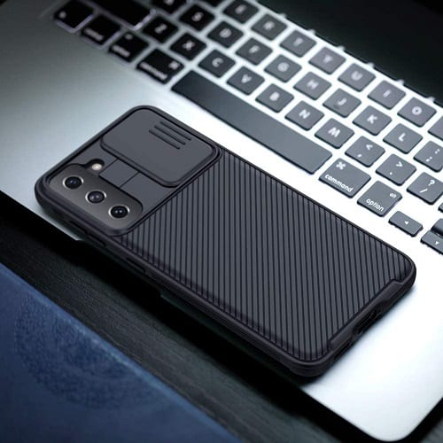Nillkin Samsung Galaxy S21 Plus Case, CamShield Series Slim Stylish Protective Case with Slide Camera Cover - Black
