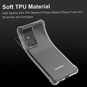 Samsung Galaxy S21 Ultra 5G Clear Case Shockproof Tough Gel Transparent Air Cushion Bumper Cover