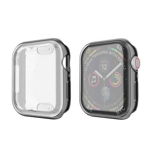 For Apple Watch iWatch Series SE 6 5 4 3 2 1 Clear Soft Full Gel Cover 44mm 38mm 40mm 42mm (Black)