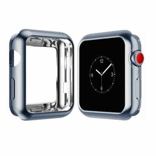 For Apple Watch iWatch Series SE 6 5 4 3 2 1 Case Soft Full Gel Cover 44mm 38mm 40mm 42mm (Space Grey)