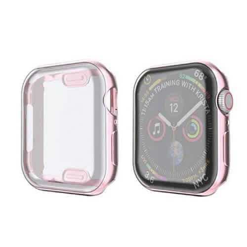 For Apple Watch iWatch Series SE 6 5 4 3 2 1 Case Soft Full Gel Cover 44mm 38mm 40mm 42mm (Rose Gold)