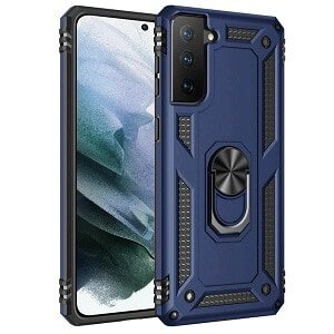 Samsung Galaxy S21 Magnetic Ring Shockproof Case Heavy Duty Rugged Cover (Navy Blue)