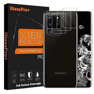 [ 3 Pcs ] Samsung Galaxy S20 Ultra Camera Lens Tempered Glass Screen Protector Anti Scratch Film Guard