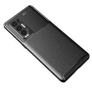 Oppo Find X3 Neo Rugged Shockproof Case Carbon Fiber Heavy Duty Rugged Cover (Black)