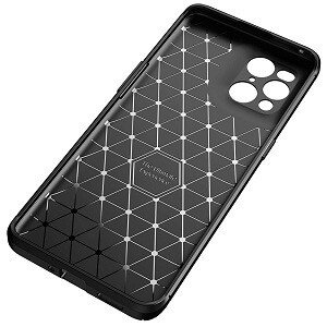 Samsung Oppo Find X3 Rugged Shockproof Case Carbon Fiber Heavy Duty Rugged Cover (Black)