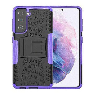 Samsung Galaxy S21 Heavy Duty Case Shockproof Rugged Protective Cover (Purple)