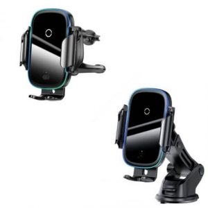 Qi Fast Wireless Charging Car Charger Baseus 15W Dual Mode Intelligent Infrared Windshield Dash /Air Vent Car Mount Phone Holder