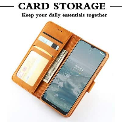 Nokia G20 Wallet Case Flip Leather Card Slots Magnetic Stand Cover (Rose Gold)