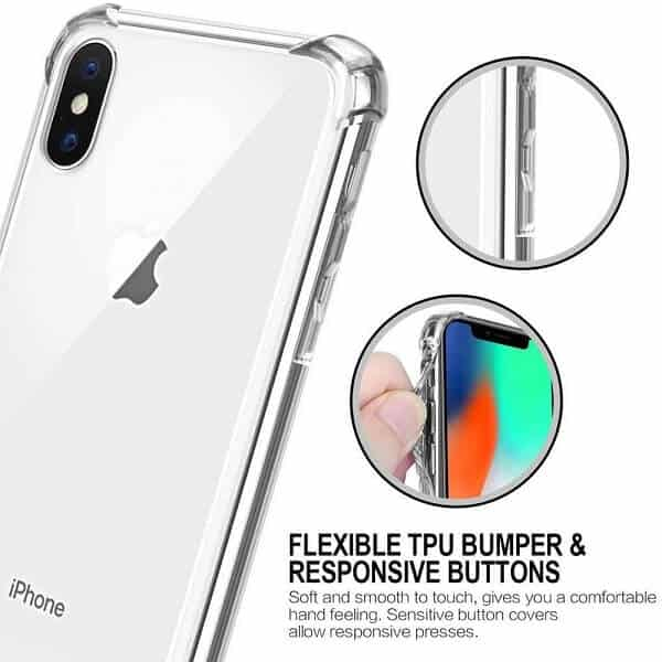 Apple iPhone XS Max Clear Gel Case Shockproof Tough Gel Clear Transparent Air Cushion Cover