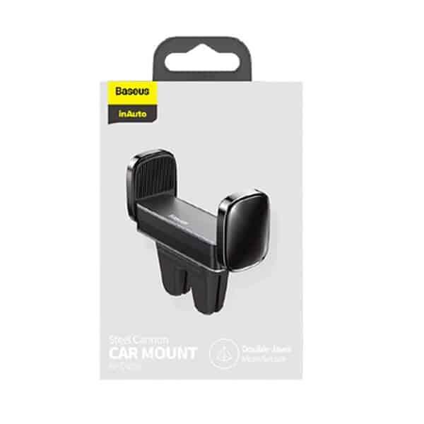Baseus Mini Car Phone Holder Air Vent Mount Stand For Apple iPhone Samsung Galaxy Nokia Oppo LG Google Pixel Xiaomi Huawei Smartphone Bracket in Car GPS