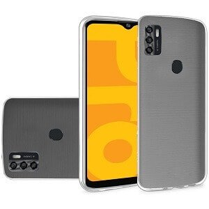 Optus X Pro Shockproof Tough Anti knock Heavy Duty Back Case Cover (Clear)