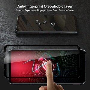 Asus ROG Phone 5 Screen Protector Full Coverage Tempered Glass Film Guard (Black)