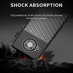 Nokia X20 Case Shockproof Absorption Anti Scratch Heavy Duty Durable Drop Protection Phone Armor Back Cover (Black)