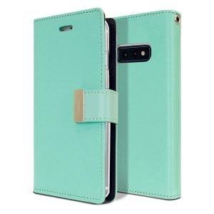 Goospery Samsung Galaxy S10E Rich Diary Aqua Wallet Case For Sale