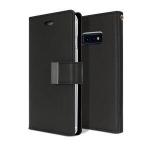 Goospery Samsung Galaxy S10E Rich Diary Black Wallet Case For Sale