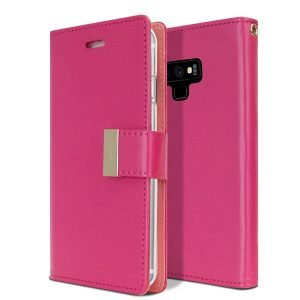 Goospery Samsung Galaxy Note 9 Rich Diary Hot Pink Wallet Case