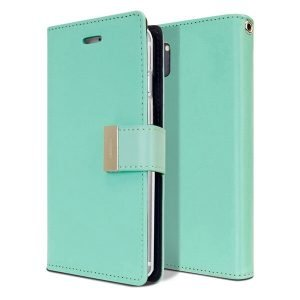 Goospery Samsung Galaxy Note 10 Rich Diary Aqua Wallet Case For Sale
