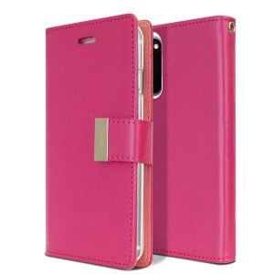 Goospery Galaxy S20 Rich Diary Hot Pink Wallet Case