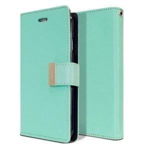 Goospery iPhone 7 Plus / 8 Plus Rich Diary Aqua Wallet Case