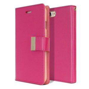 Goospery iPhone 7 /8 Rich Diary Hot Pink Wallet Case