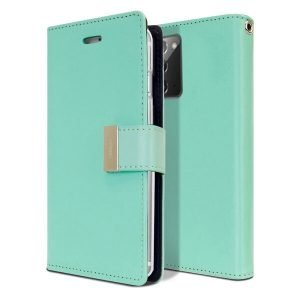 Goospery Galaxy Note 20 Rich Diary Aqua Wallet Case