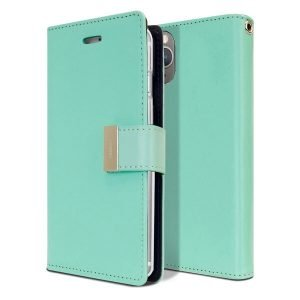 Goospery iPhone 11 Pro Rich Diary Aqua Wallet Case