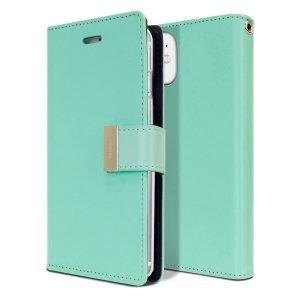 Goospery iPhone 11 Rich Diary Aqua Wallet Case