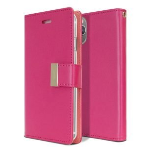 Goospery iPhone 11 Pro Max Rich Diary Hot Pink Wallet Case