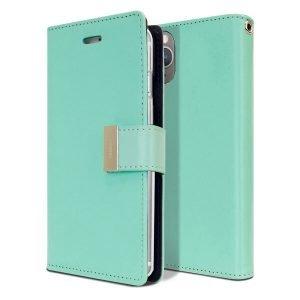 Goospery iPhone 11 Pro Max Rich Diary Aqua Wallet Case