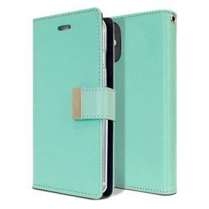 Goospery iPhone 12 Mini Rich Diary Black Wallet Case